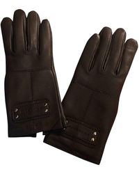 Givenchy Leather Gloves - Brown