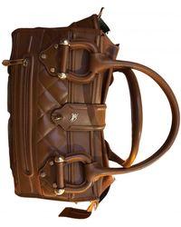 Burberry Leather Handbag - Brown