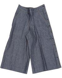 Vanessa Seward Cotton Shorts - Blue