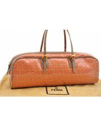 Fendi \n Orange Cloth Handbag