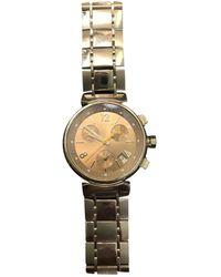 Louis Vuitton Orologio in acciaio beige Tambour Chronographe - Neutro