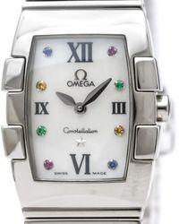 Omega Reloj en acero plateado Constellation - Multicolor