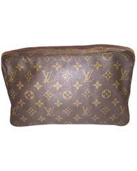 Louis Vuitton Vintage Brown Cloth Bag