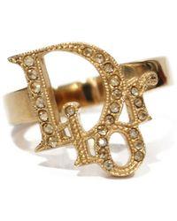 Dior Gold Metal Rings - Metallic