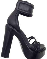Givenchy Strappy Ankle Strap Platform Sandals - Black