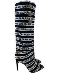 Balmain Cloth Boots - Black