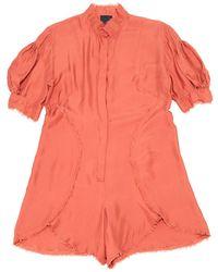 Fendi - Silk Jumpsuit - Lyst