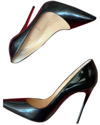 Christian Louboutin Tacones So Kate de Charol - Negro