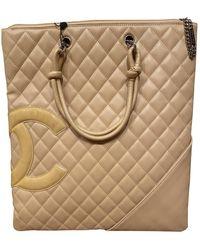 Chanel Sac à main Cambon en Cuir Beige - Neutre