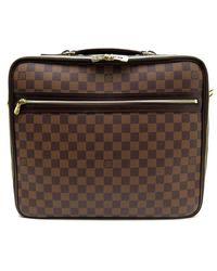 Louis Vuitton - Pre-owned Brown Cloth Handbags - Lyst