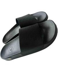 Balmain Leather Mules - Black