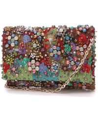 Oscar de la Renta Multicolour Glitter Clutch Bag