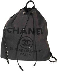 Chanel - Deauville Cloth Handbag - Lyst