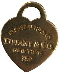 Tiffany & Co. Return To Tiffany Gold Yellow Gold Pendants - Multicolor