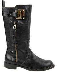 Barbara Bui Black Leather Boots
