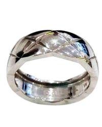 Chanel Coco Crush Silver White Gold Ring - Multicolor