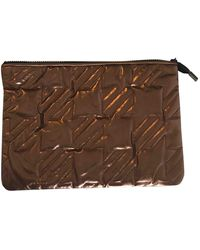 Maje Other Leather Clutch Bag - Multicolour