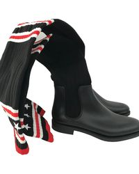 Givenchy Cloth Boots - Black