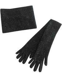 Bottega Veneta Cashmere Long Gloves - Grey