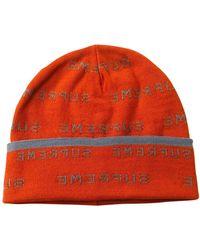 Supreme Strickmütze - Orange