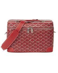 Goyard Red Cloth Travel Bag