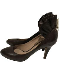 Chloé Leather Heels - Brown