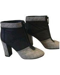 Chanel Boots en Cuir Gris