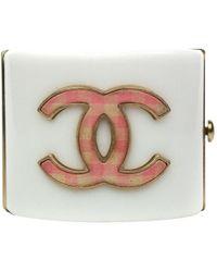 Chanel White Plastic
