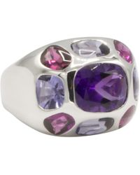 Chanel - Baroque Multicolour White Gold Ring - Lyst