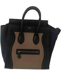 Celine Bolso Nano Luggage de Cuero - Negro