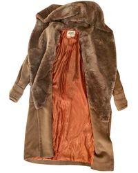 Hermès \n Camel Wool Coats - Multicolour