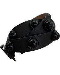 Carven Black Leather Belts