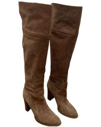 Michael Kors Camel Suede Boots - Multicolor