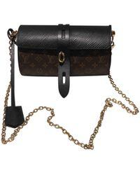 Louis Vuitton - Glasses Case Brown Cloth Handbag - Lyst