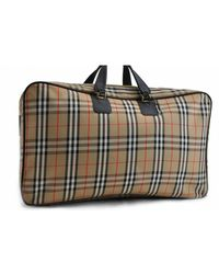 Burberry Beige Cloth Travel Bag - Natural