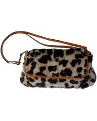 Sonia by Sonia Rykiel Faux Fur Handbag - Brown