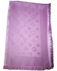 Louis Vuitton - Foulards Châle Monogram en Soie Rose - Lyst