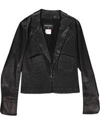 Chanel Leder blazer - Schwarz