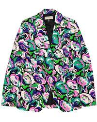 Emilio Pucci Multicolor Velvet Jacket - Green