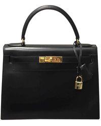 Hermès Kelly 28 Black Leather Handbag