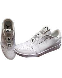 Nike Sf Air Force 1 Leather Low Trainers - White