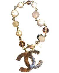 Chanel Cc Gold Metal Bracelet - Metallic