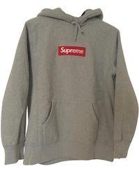 Supreme Gray Cotton Knitwear & Sweatshirt