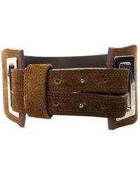 Max Mara - Pre-owned Brown Patent Leather Belts - Lyst