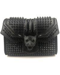 Philipp Plein \n Black Leather Handbag