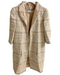 Chanel Mantel en Tweed - Multicolore