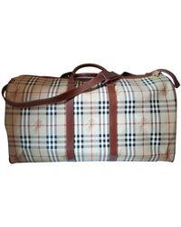 Burberry Cloth Weekend Bag - Natural