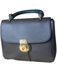 Burberry Dk 88 Leather Handbag - Brown