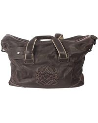 Loewe Leather Handbag - Brown