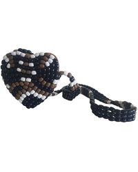 Maje Beige Leather Handbag - Natural